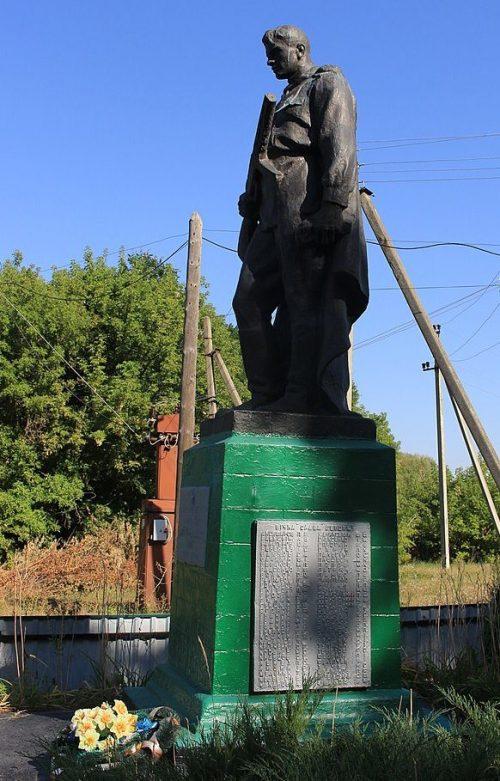 с. Радивановка Каменского р-на. Памятник, установленный на братской могиле советских воинов.