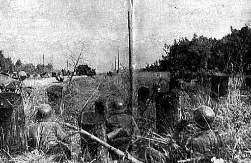Немецкие войска в обороне. Июль 1944 г.