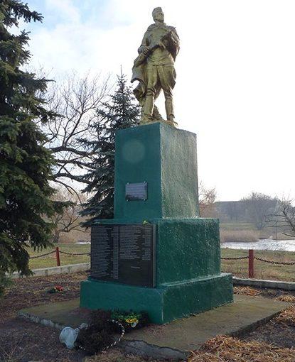 с. Михайловка Синельниковского р-на. Памятник, установленный на братской могиле воинов, погибших в боях за село.