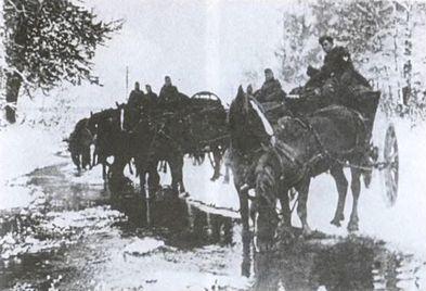 Основной транспорт в «котле». Март 1945 г.