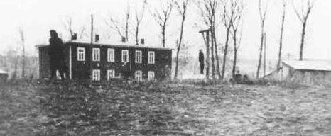 Повешенный еврей в гетто. 18 ноября 1942 г.