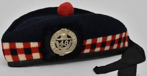 Пилотка (гленгарри) 48-го полка горцев.
