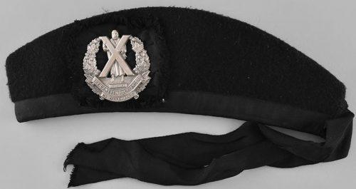 Пилотка (гленгарри) подразделения «Cameron Highlanders of Ottawa».