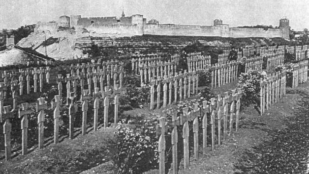 Немецкие кладбища. 1944 г.
