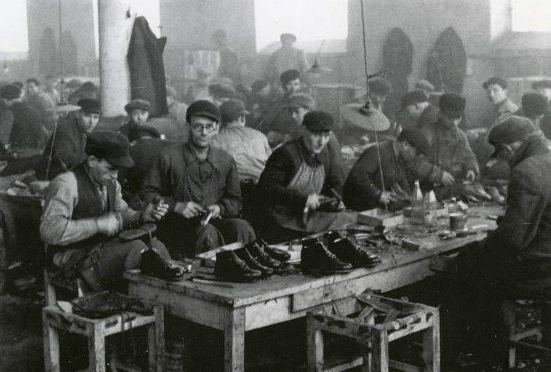 Мастерская принудительного труда в еврейском гетто. 1941 г.