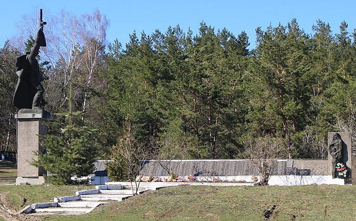 с. Бучак Каневского р-на. Памятник в урочище «Казачий Шпиль», установленный на братской могиле советских воинов.