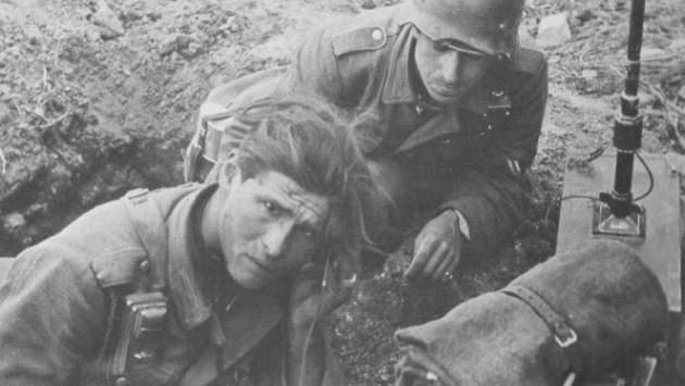 Немецкие связисты в «котле». Апрель 1945 г.
