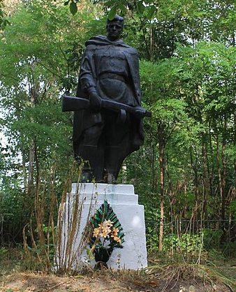 с. Сегединцы Городищенского р-на. Памятник, установленный на братской могиле советских воинов.