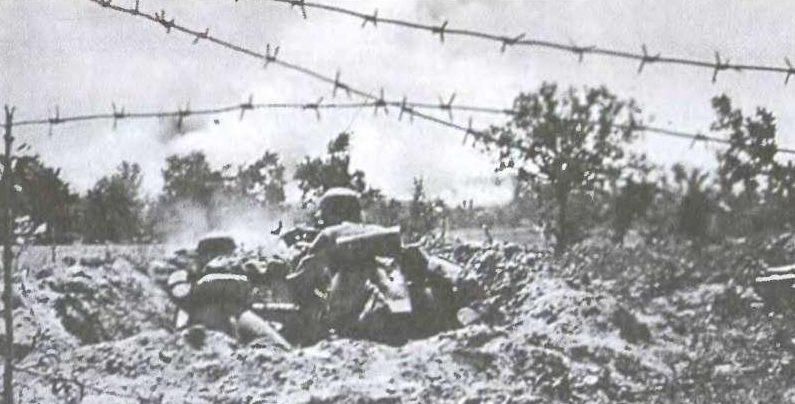 Немецкие войска в бою за Брестскую крепость. 1941 г.