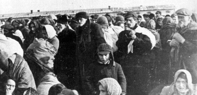 Депортация евреев Люблина в концлагерь Майданек. Январь 1942 г.