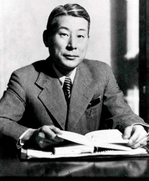 Японский консул Сугихара, который выдал в Каунасе тысячи виз для спасения евреев. 1945 г.