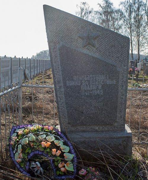 с. Конельская Поповка Жашковского р-на. Памятник неизвестному солдату, установленный на кладбище.