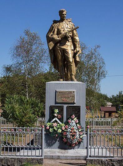 с. Вознесенское Золотоношского р-на. Памятник, установленный на братской могиле советских воинов.