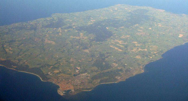 Остров Борнхольм с высоты птичьего полета.