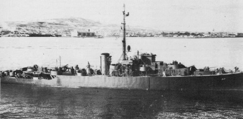 Эскортный корабль типа PF «Tacoma», полученный по Ленд-лизу.
