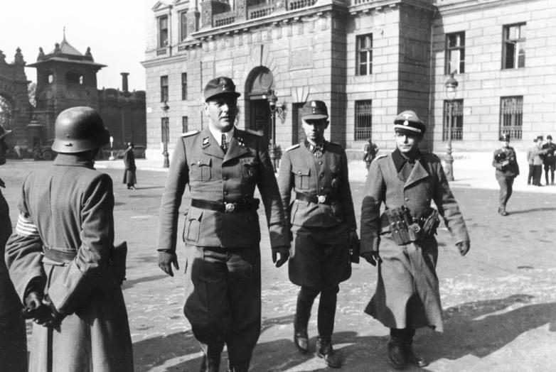 Отто Скорцени в Будапеште, октябрь 1944 г.