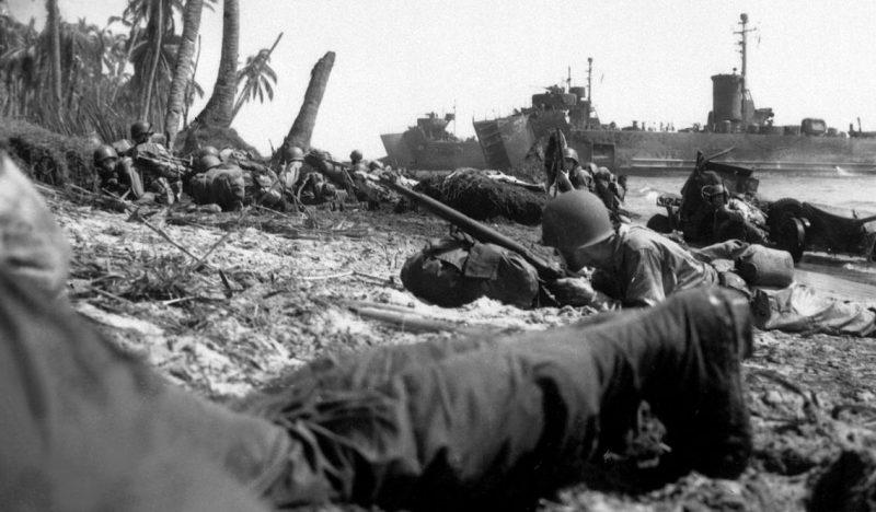 Высадка десанта на остров Лейте.
