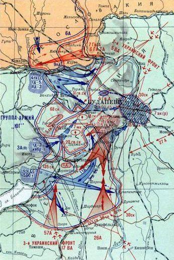 Контрудары немецкой группировки 1-8 января 1945 года.