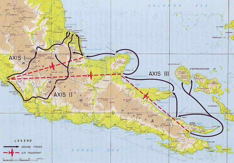 План атаки на Буна-Гона.