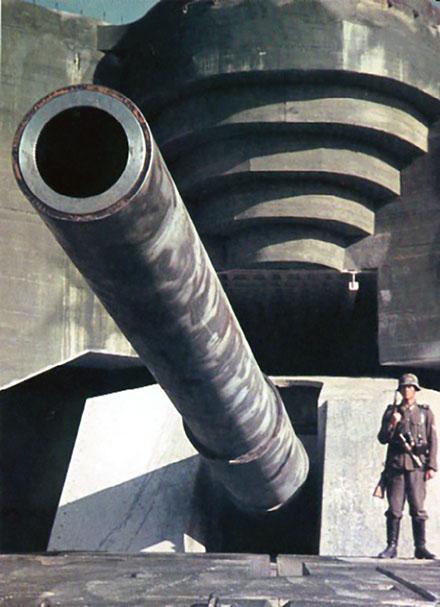 406-мм орудие «Batterie Lindemann».