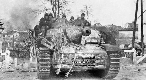 Атака немецких войск.