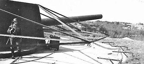 Орудия батареи «Grosser Kurfürst».