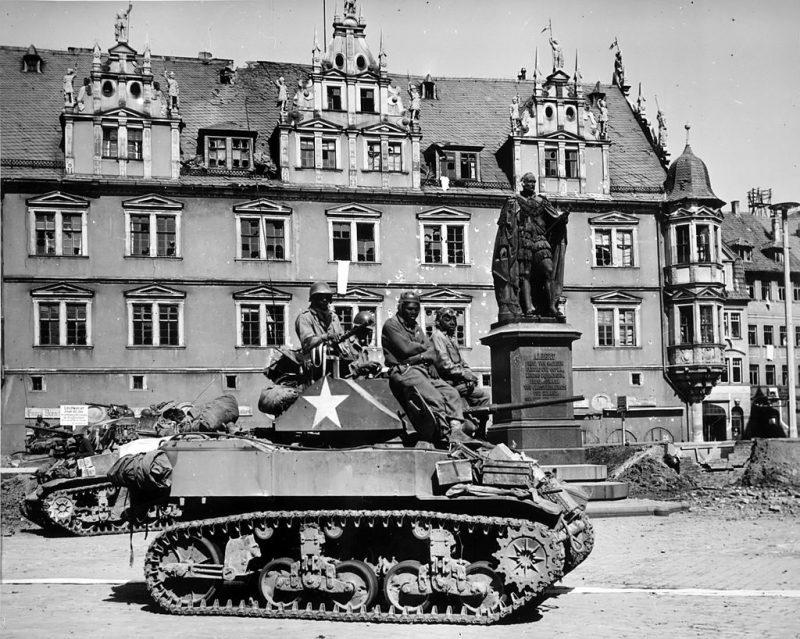 Американские танки в Кобурге.