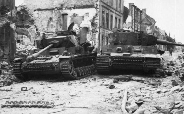 Подбитые немецкие танки.
