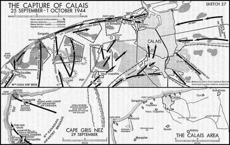 План-схема захвата Кале.