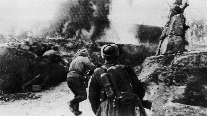 Советские войска в боях.