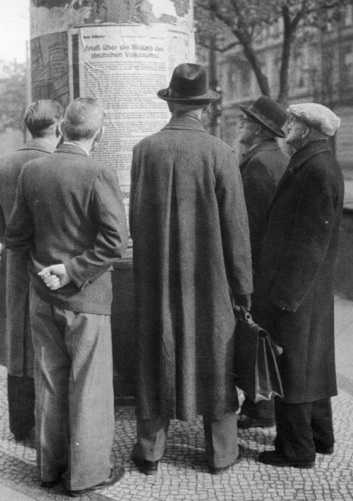 Плакат с сообщением о формировании Фольксштурма. Октябрь 1944 г.