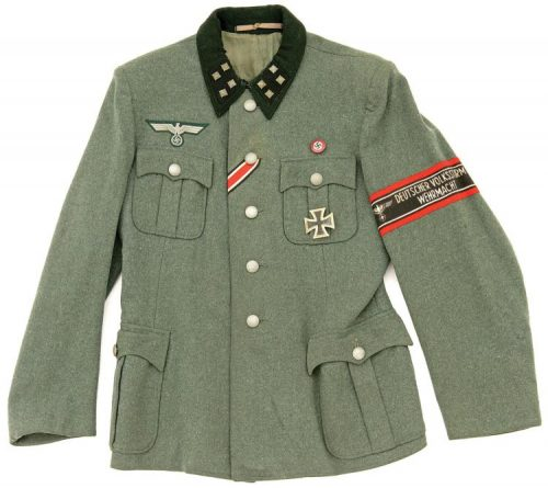 Китель батальонфюрера Фольксштурма из полевой униформы Вермахта.