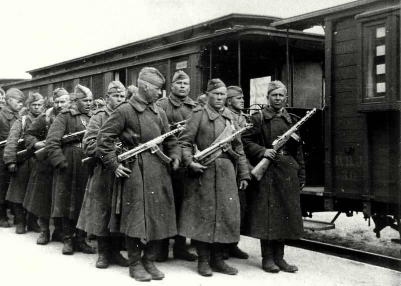Советские солдаты на острове Борнхольм.