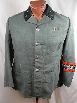 Цугфюрер Фольксштурма в униформе ветерана 1-й Мировой войны.