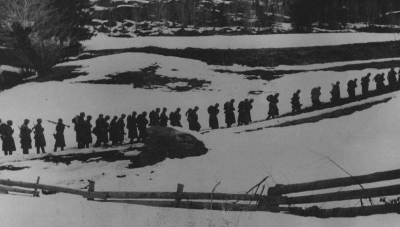 Горные егеря Вермахта в Норвегии. Апрель 1940 г.