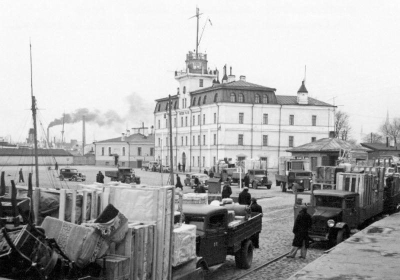 Депортация немцев в Германию. Таллин, октябрь 1939 г.