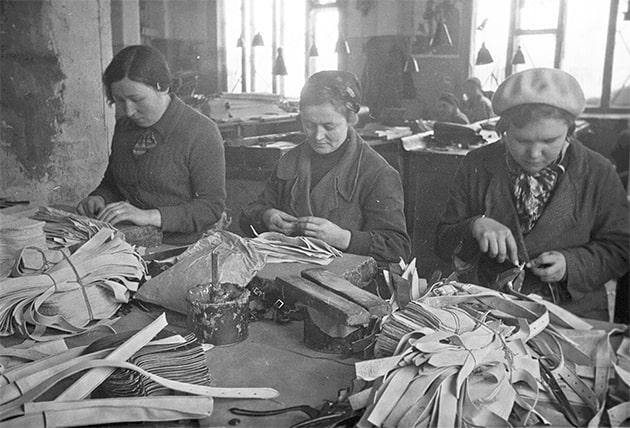 Кожевенная мастерская. 1941 г.