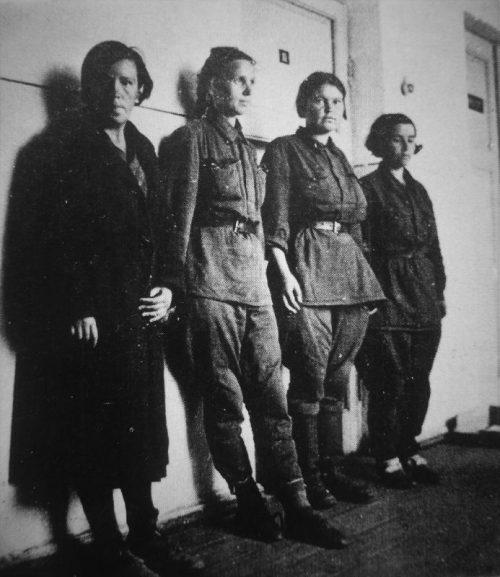 Женщины-военнослужащие в немецком плену. Сентябрь 1941 г.