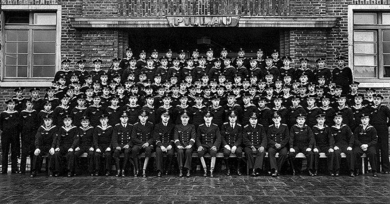 Учебная рота подводников. 1939 г.
