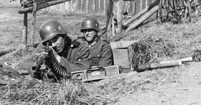 Немецкие пулеметчики в городке Му-и-Рана. Апрель 1940 г.