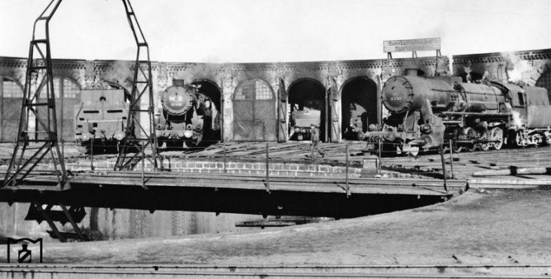 Паровозное депо. 1943 г.