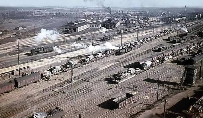 Железнодорожная станция. 1943 г.
