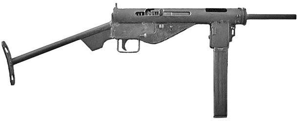 МР-3008 - немецкий вариант британского пистолет-пулемета STEN.