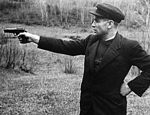 Тренировки Таврина на стрельбище.