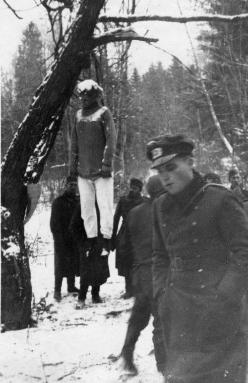 Казненная в подмосковной деревне Головково разведчица-диверсант Вера Волошина. Ноябрь 1941 г.