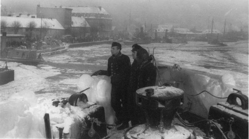 Гавань Пиллау. Январь 1945 г.