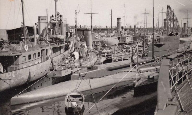 Эстонские военные корабли покидают Эстонию. Июнь 1940 г.