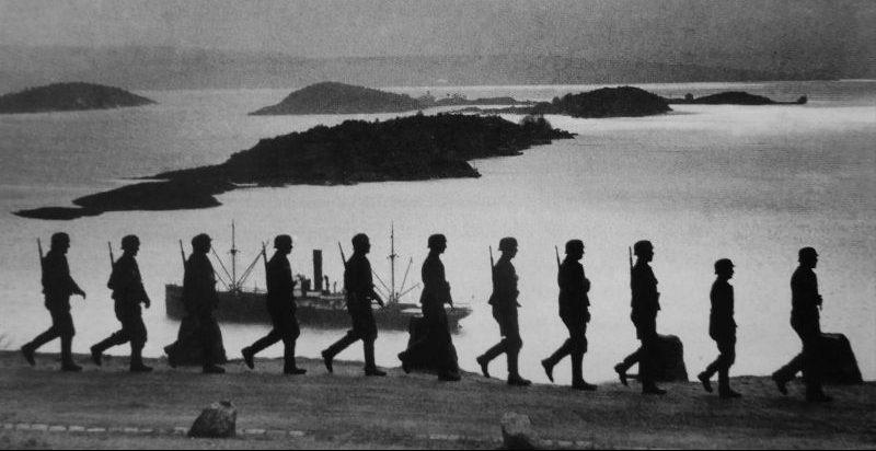 Патруль Вермахта на побережье Норвегии. Апрель 1940 г.