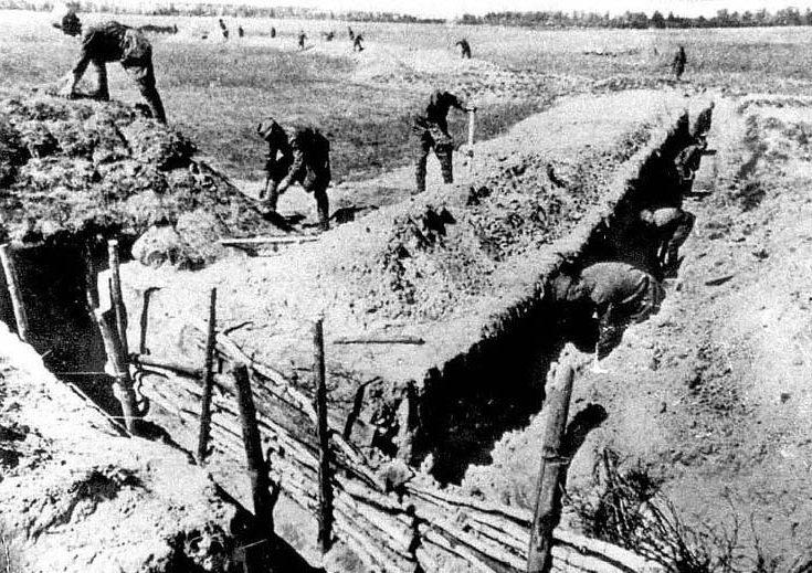 Оборонительные советские позиции в районе Таллина. Июль 1941 г.