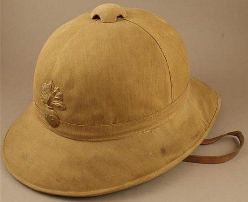 Тропический пехотный шлем.